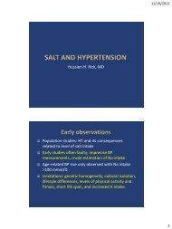 Salt and Hypertension - RM Solutions