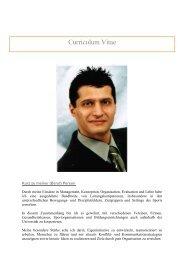 Curriculum Vitae - InzTanz, Internationales Zentrum für Tanz