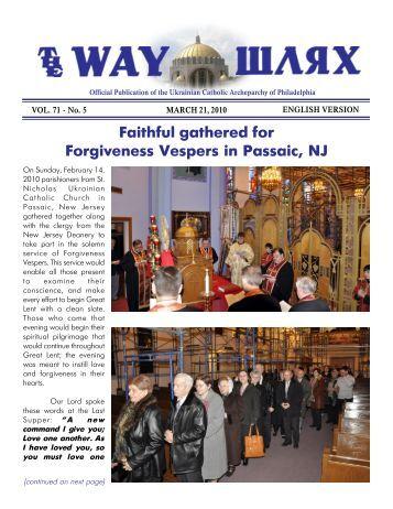 03/21/10 - Ukrainian Catholic Archeparchy of Philadelphia