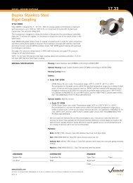 Duplex stainless steel rigid coupling 17.33 - Victaulic