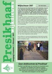 Presikhaaf wijk nieuws Jaargang 9 nummer 1, februari 2007 ...