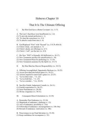 Hebrews Chapter 10
