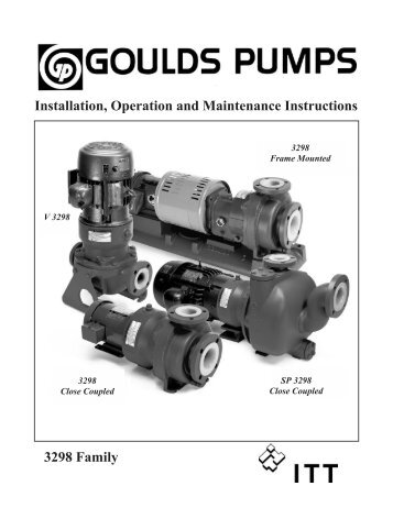 Installation Operation and Maintenance Manual ... - Goulds Pumps
