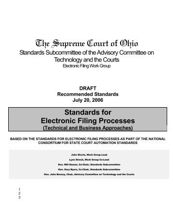Electronic Filing Standards - Supreme Court - State of Ohio