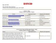 Section 508 Barco Projectors - Network Spectrum, Inc.
