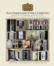 Current Catalog PDF - Southern Shutter Company