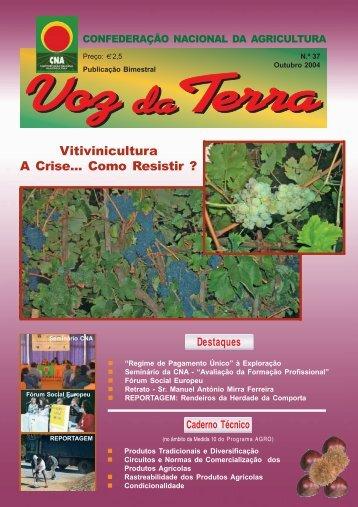 Voz da Terra, Outubro de 2004 - CNA
