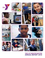 ANNUAL REPORT 2010 - YMCA of Greater Boston