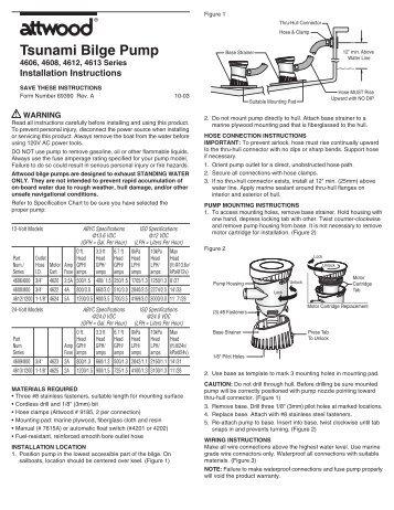Attwood Tsunami bilge pump manual - Binnacle.com