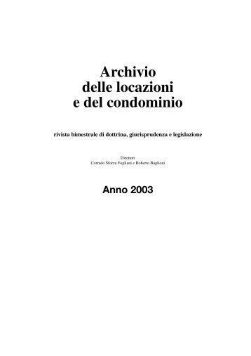 Archivio delle locazioni e del condominio - La Tribuna