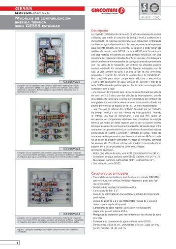 Módulos serie GE555 - Giacomini SpA