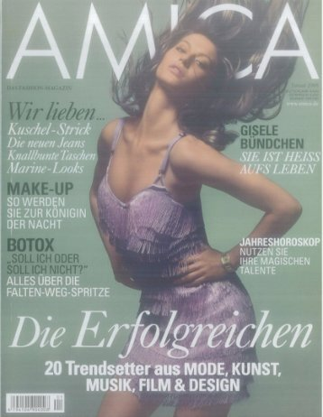 """Botoxunterspritzungen"" (2008/01 Amica)"