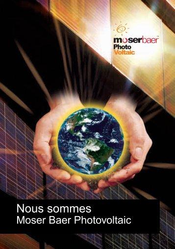 Nous sommes - Moser Baer Solar Limited