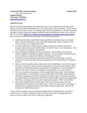 American Politics and Government - University of Toronto Press ...