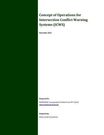 Concept of Operations for Intersection Conflict Warning ... - Enterprise