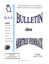 BAF 103 - Fédération Française des Échecs