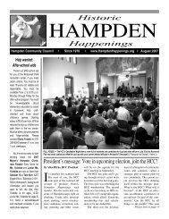 August 2007 (pdf) - Hampden Community Council