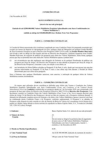 BES Perpétuas 2010 - 2.ª Série PTBENBOM0021