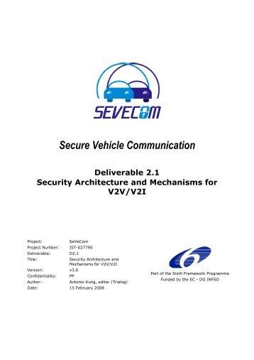Secure Vehicle Communication - Sevecom