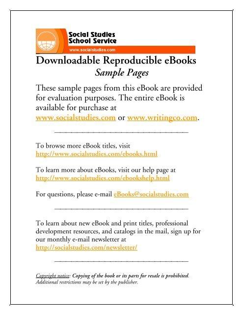 Social Studies Ebook
