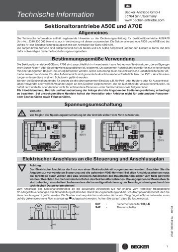 Technische Information - Becker-Antriebe - Home