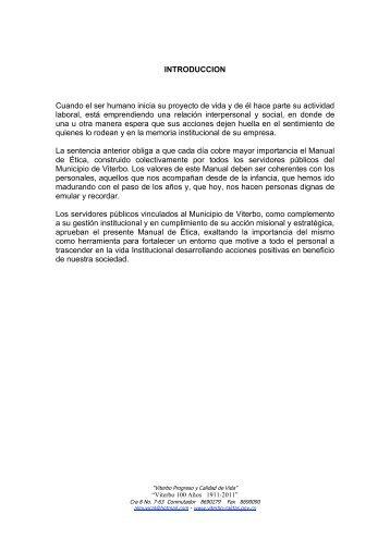 CODIGO DE ETICA - Viterbo