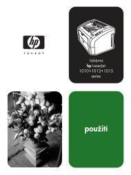 hp LaserJet 1010/1012/1015 series printer user guide - CSWW