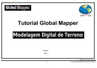 Modelagem Digital de Terreno Tutorial Global Mapper
