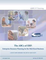The ABCs of ERP: - ASPE