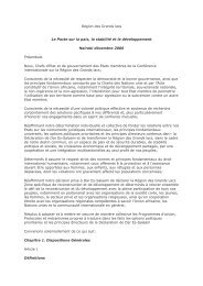 Pacte sur la paix, la stabilité et le développement ... - mediacongo.net