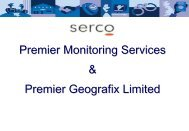Premier Geographix / Serco - CEP, the European Organisation for ...