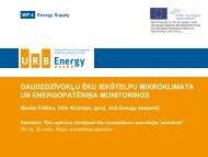 Monitoringa prezentacija REA diskusijai - Rīgas enerģētikas aģentūra
