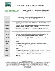 San Juan County Council Agenda