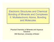 Electronic Structures and Chemical Bonding of Minerals and ...