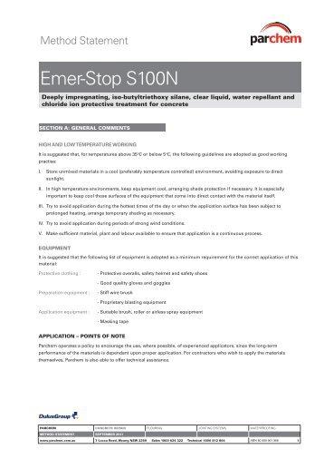 Emer-Stop S100N MS - Parchem