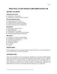 PRACTICAL FILTER DESIGN & IMPLEMENTATION LAB