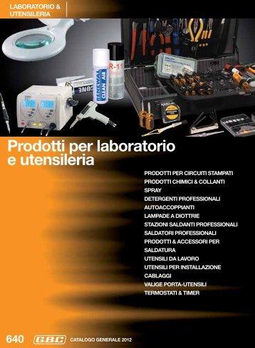 Prodotti per laboratorio e utensileria