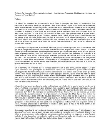 Emile ou De l'ducation [Document lectronique] / Jean-Jacques ...