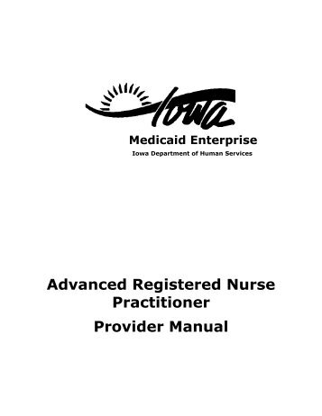 Advanced Registered Nurse Practitioner - Iowa Department of ...