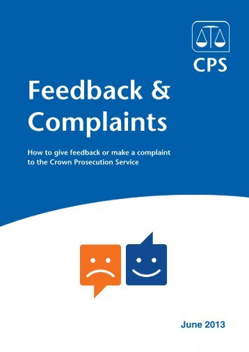 English Feedback and complaints guidance (PDF format, 305kb)