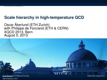 Scale hierarchy in high-temperature QCD - XQCD13