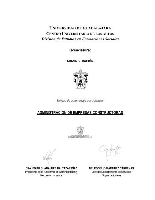 ADMINISTRACIÓN DE EMPRESAS CONSTRUCTORAS - Centro ...