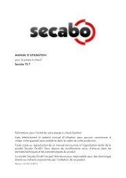 MANUEL D'UTILISATION pour la presse à chaud Secabo TS 7 ...