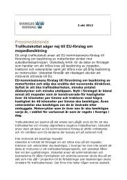 Trafikutskottet säger nej - Svensk trafiksäkerhet