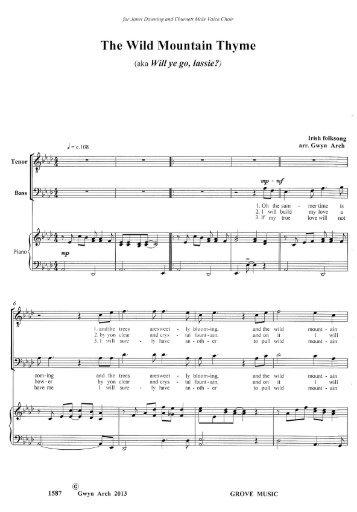 The Wild Mountain Thyme - Grove Music Catalogue