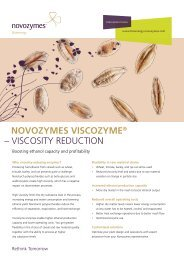 NOVOZYMES VISCOZYME® – VISCOSITY REDUCTION