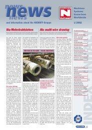 Alu multi-wire drawing - Maschinenfabrik NIEHOFF GmbH & Co. KG