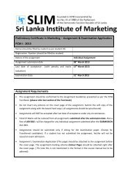 Assignment Marking Scheme - The National institute for Marketing in ...