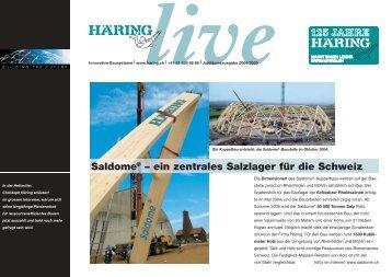 Saldome® – ein zentrales Salzlager für die Schweiz - Häring