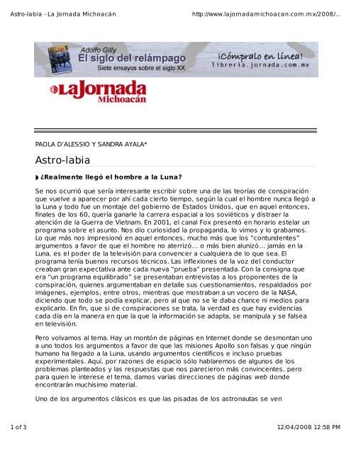 PAOLA D'ALESSIO Y SANDRA AYALA* Ã'Â¿Realmente ... - CRyA, UNAM